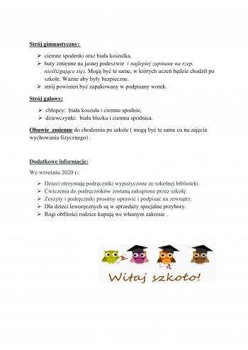 Wyprawka dla ucznia klasy pierwszej-2